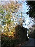ST0083 : Abutment of former mineral tramway bridge in Llanharan by Gareth James