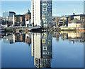 J3474 : The Boat (reflection), Belfast (January 2018) by Albert Bridge