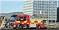 J3474 : Fire appliance, Queen's Quay, Belfast - January 2018(1) by Albert Bridge