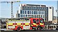 J3474 : Fire appliance, Queen's Quay, Belfast - January 2018(2) by Albert Bridge