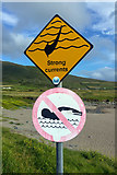 V3968 : Warning signs at St Finan's Bay beach by Phil Champion