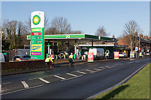 SU4828 : BP Filling Station, Bar End Road by Peter Facey