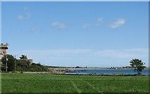 J6350 : View across farmland to Quintin Bay by Eric Jones