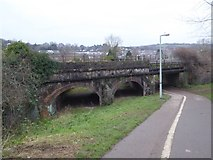 SX9192 : Railway bridge over cycle path and Exe Valley Way by David Smith
