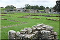 NZ0615 : Egglestone Abbey: Cloister and farm by Bob Harvey