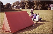NJ8734 : Camping at Haddow Estate by Richard Sutcliffe