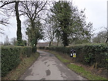 SP8800 : Farm access road To Andlows Farm, Prestwood, Bucks by Jeremy Bolwell