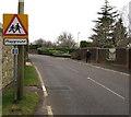 ST4793 : Warning sign - playground, Shirenewton by Jaggery