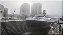 J3575 : The SS 'Nomadic' in the fog by Rossographer
