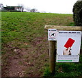 ST4793 : Keep your children safe - Give dog fouling the red card, Shirenewton by Jaggery
