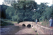 SS9843 : Gallox Bridge, Dunster by Jeff Buck