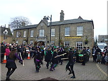 TL2797 : Dancing outside The George - Whittlesea Straw Bear Festival 2018 by Richard Humphrey