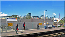 TQ2575 : Wandsworth Town station, Up platform 2012 by Ben Brooksbank