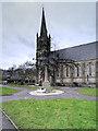 SD7916 : War Memorial and St Paul's Church, Ramsbottom by David Dixon