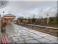 SD7916 : A Wet Day at Ramsbottom Station by David Dixon