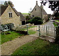 SP2513 : Kissing gate at the northern end of Church Lane, Fulbrook, West Oxfordshire by Jaggery