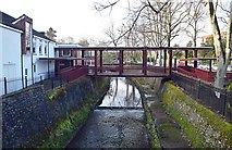 SP0683 : Footbridge over River Rea, Edgbaston, Birmingham by P L Chadwick