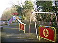 ST7361 : Burnt House Road play area by Neil Owen