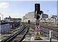 TQ3179 : Waterloo station, end of Platform 2/3, 2006 by Ben Brooksbank
