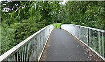 SK3536 : Footbridge across the River Derwent by Mat Fascione