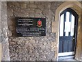 SX9392 : Commemorative plaque, entrance to St Luke's campus by David Smith