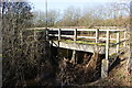 SP5014 : Bridge for drain under old A34 by Roger Templeman