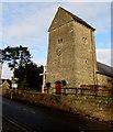 ST1983 : Church tower and clock, Church Road, Lisvane, Cardiff by Jaggery
