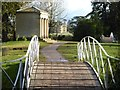 SO8744 : Bridges and Island Temple, Croome Park by Philip Halling