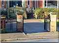 SK4933 : Library gates, Long Eaton by Alan Murray-Rust