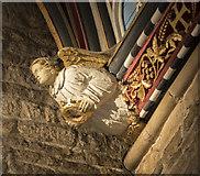 SK9136 : St Wulfram, Grantham - Corbel by John Salmon