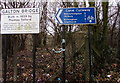 SP0189 : Canal Cycleway direction and distances sign, Smethwick by Jaggery