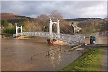 NT2540 : Flooding at Priorsford Bridge, Peebles by Jim Barton