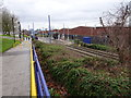 SP0090 : West Bromwich railway station (site) and tram stop, West Midlands by Nigel Thompson