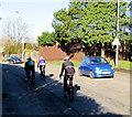 ST1379 : Friday cyclists on Llantrisant Road, Radyr, Cardiff by Jaggery