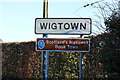 NX4354 : Wigtown Sign by Billy McCrorie
