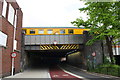 ST5972 : Ultrasonic coach of test train on bridge over Cattle Market Road by Roger Templeman