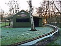 NY4053 : Hut, Hammond's Pond miniature railway by Rose and Trev Clough