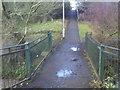 SO8692 : Wom Foot Bridge by Gordon Griffiths