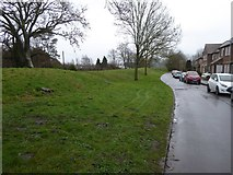 SY9287 : Town walls beside Bells Orchard Lane by David Smith