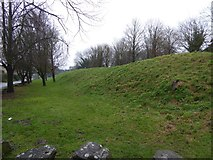 SY9287 : The eastern town wall of Wareham by David Smith