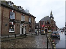 SY9287 : The Red Lion Hotel and Wareham Town Hall by David Smith