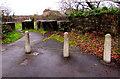 ST1783 : Concrete posts and concrete blocks, Lisvane, Cardiff by Jaggery