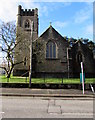ST1380 : East side of Christ Church, Radyr, Cardiff by Jaggery