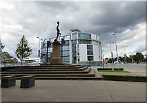 SJ8298 : Lancashire Fusiliers Memorial & Transport House by Gerald England