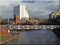 SP0586 : Canal at Old Turn Junction in Birmingham by Roger  Kidd