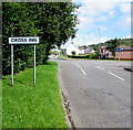 ST0582 : Cross Inn boundary sign by Jaggery