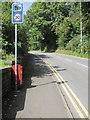 ST0583 : Speed camera warning sign, Cross Inn Road, Cross Inn by Jaggery