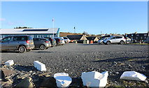 NX3343 : Harbour Car Park at Port William by Billy McCrorie