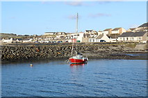 NX3343 : Yacht at Port William by Billy McCrorie
