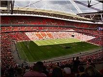 TQ1985 : Wembley stadium pitch by derek dye
